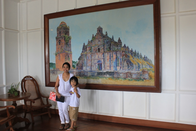 painting paoay church