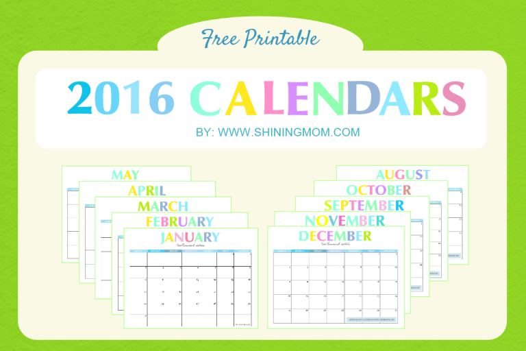 free printable your lovely 2016 calendars
