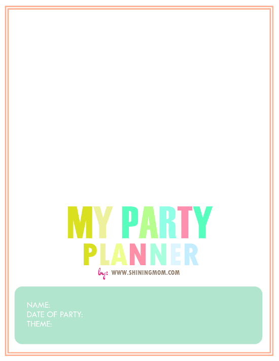 party planner cover