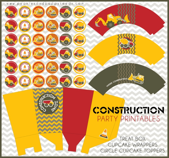 construction party free printable