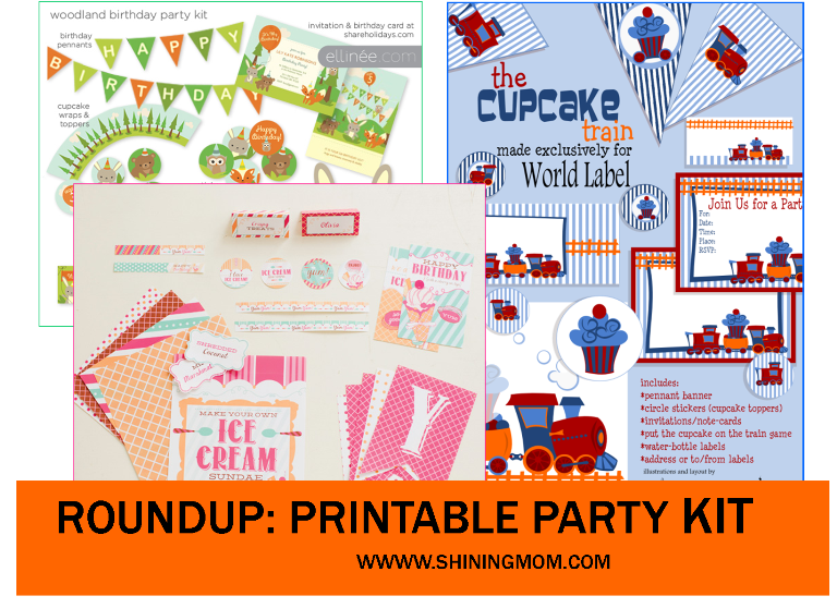 party printable kit roundup