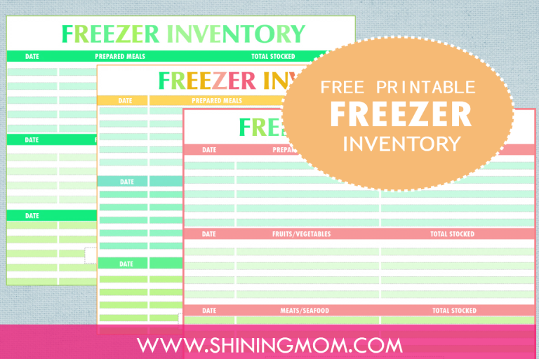 image about Freezer Inventory Printable named Freebie Monday: Freezer Stock