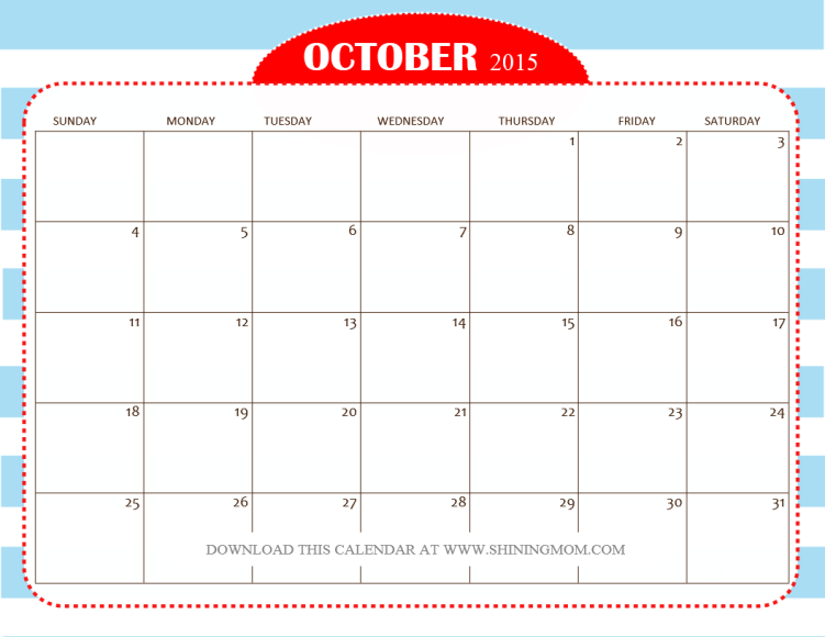 nautical theme free october 2015 calendar