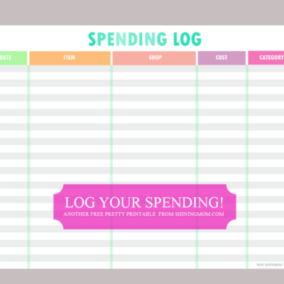 Freebie Monday: Can't control your spending?
