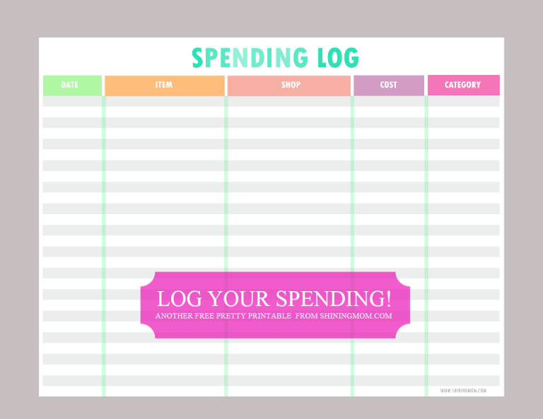 FREE PRINTABLE SPENDING LOG