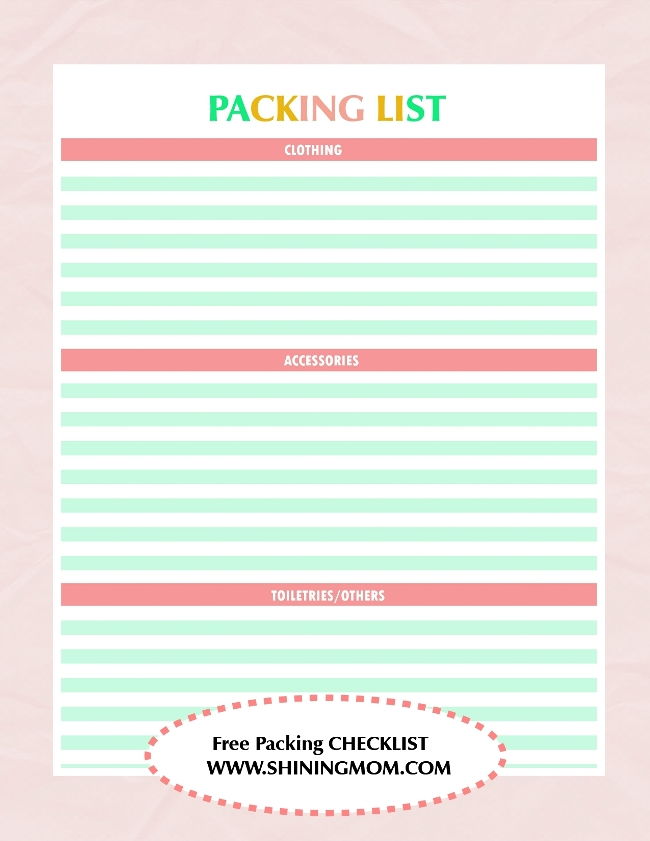 packing checklist 3