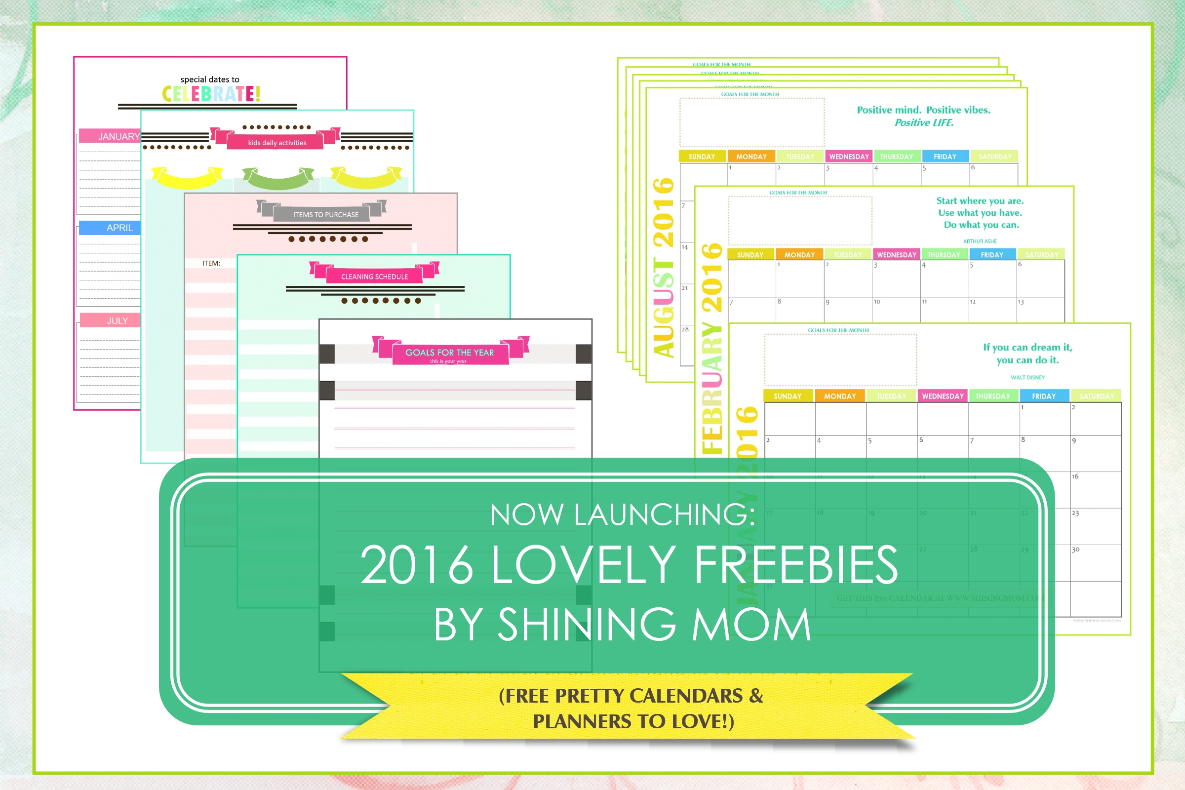 2016 freebies by shining mom
