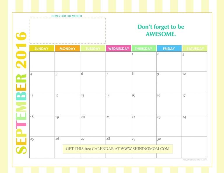 fre 2016 calendar september
