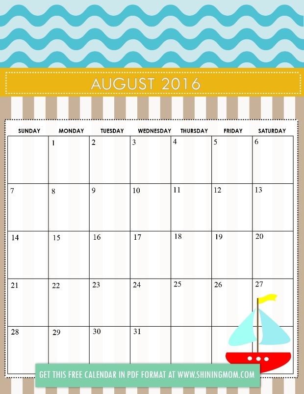Free Printable 2013 Calendar For Kids ~ Parenting Times