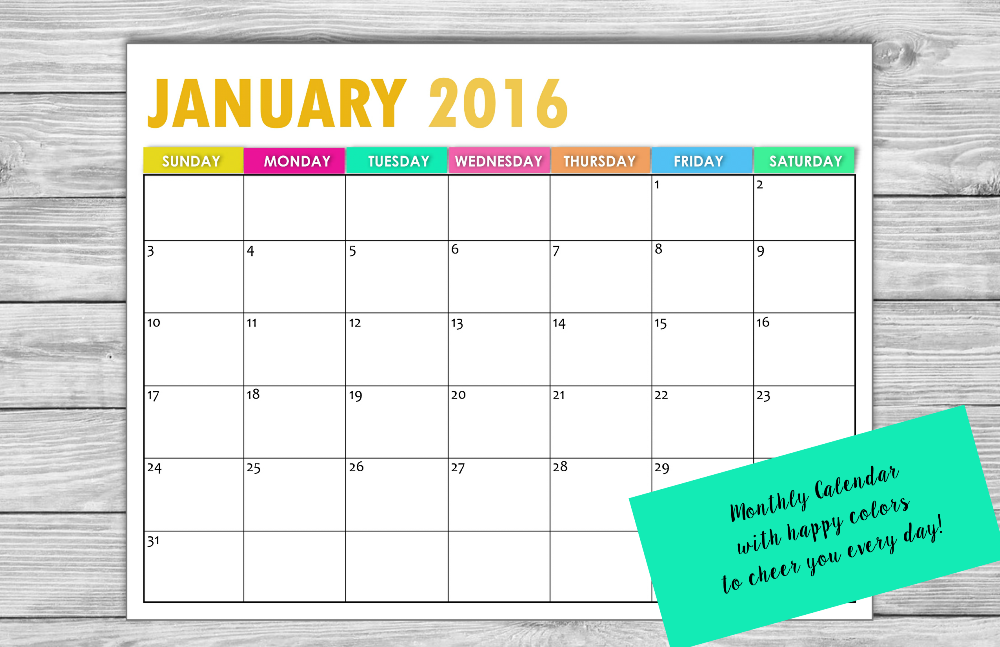 PRINTABLE 2016 CALENDARS BY SHININGMOM.COM 1