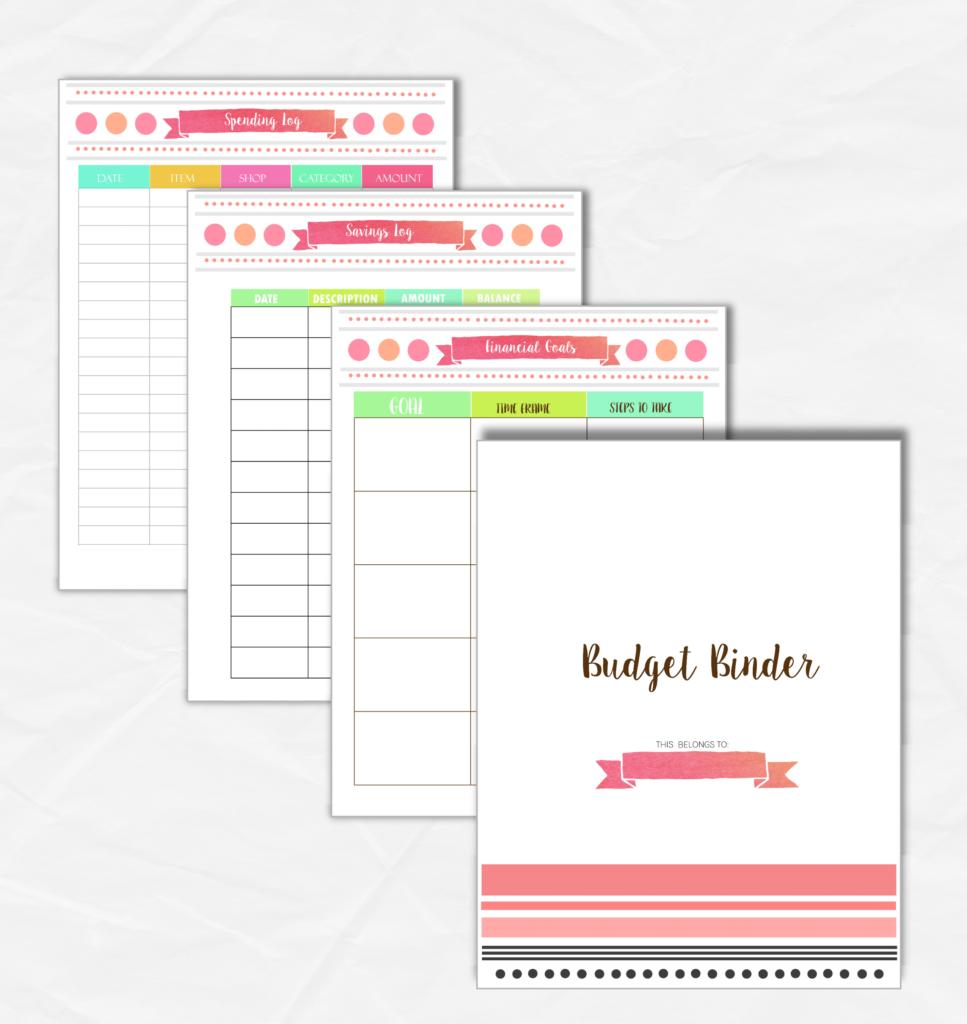budget binder printable