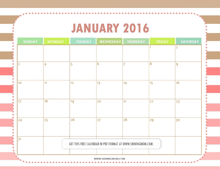 January Calendar Planner : All lovely free printable january calendars