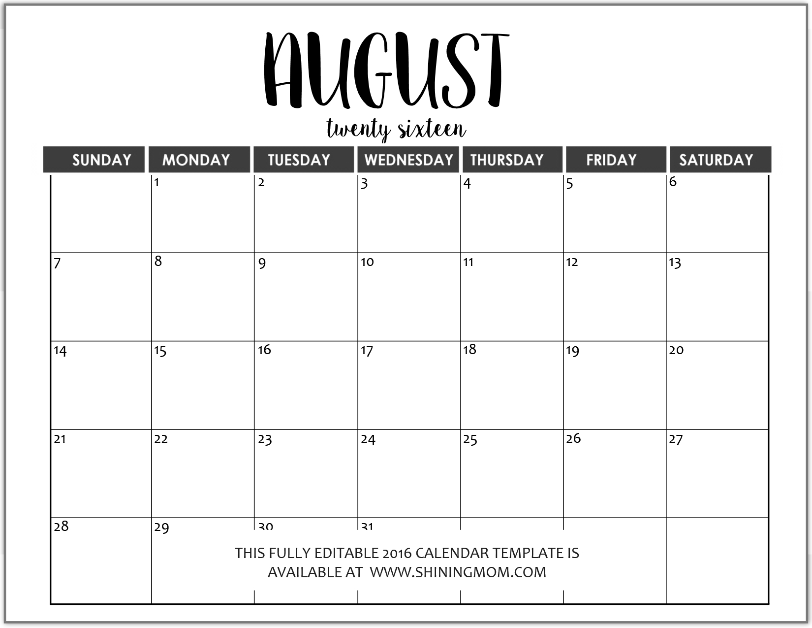 Just in fully editable 2016 calendar templates in ms word for Ms office calendar template 2015