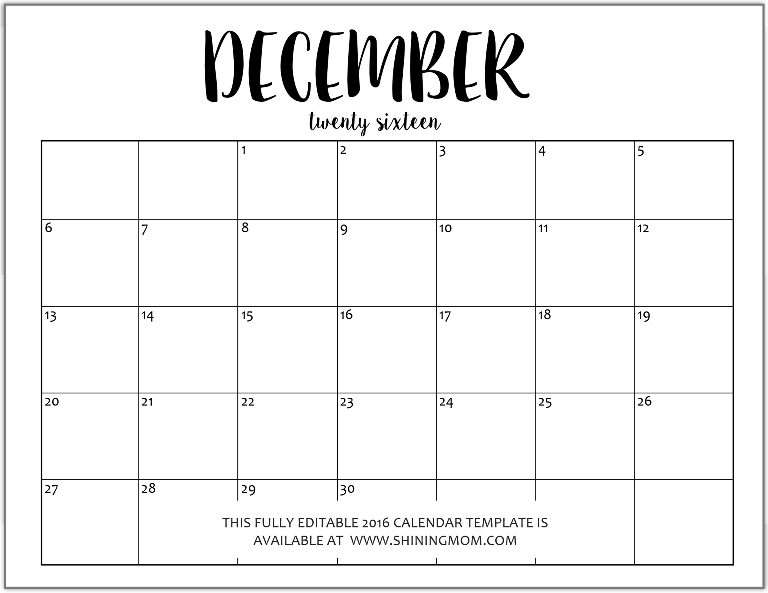 Editable calendars for 2015 2016 search results for 2015 monthly calendar template for word