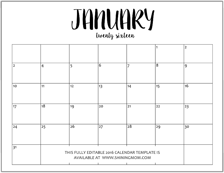 Blank January Calendar 2015 | Search Results | 2016 Calendar Printable