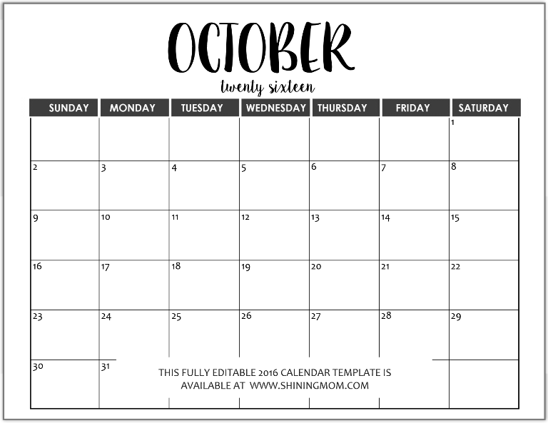 October 2017 is MONSTER MONTH! (prompts calendar …