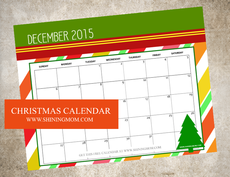 CHRISTMAS 2015 CALENDAR