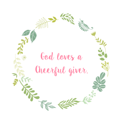 God Blesses a Cheerful Giver!