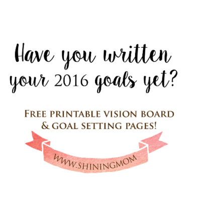 It's time to set your goals for 2016!