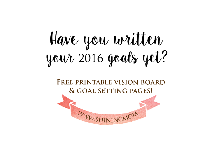 FREE PRINTABLE GOAL SETTING PAGES