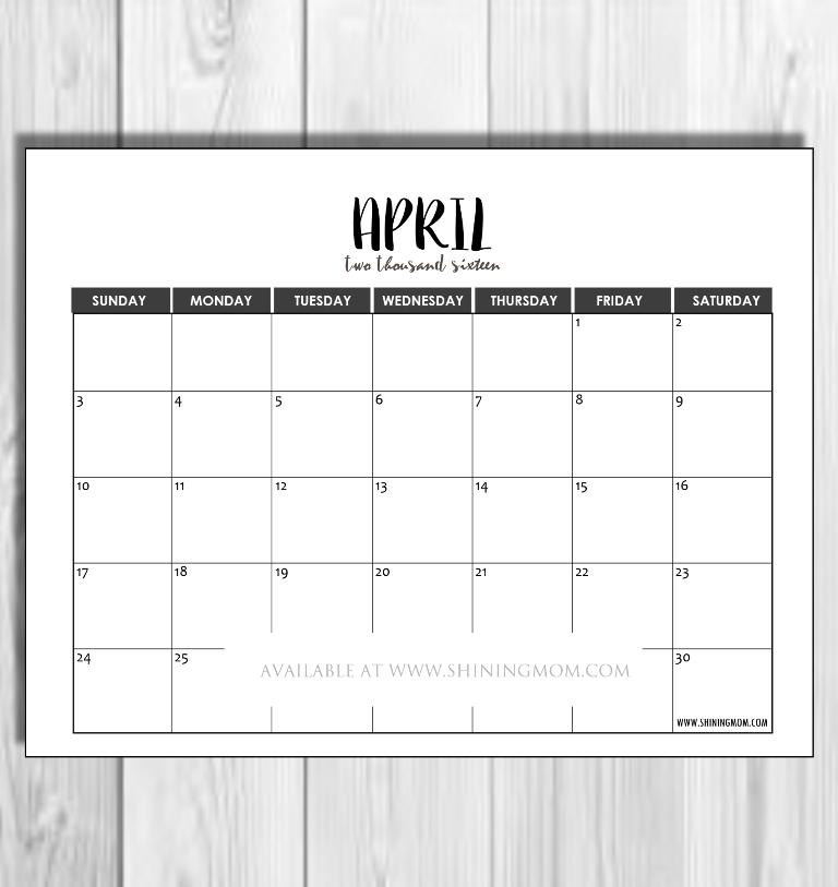 april 2016 minimalist