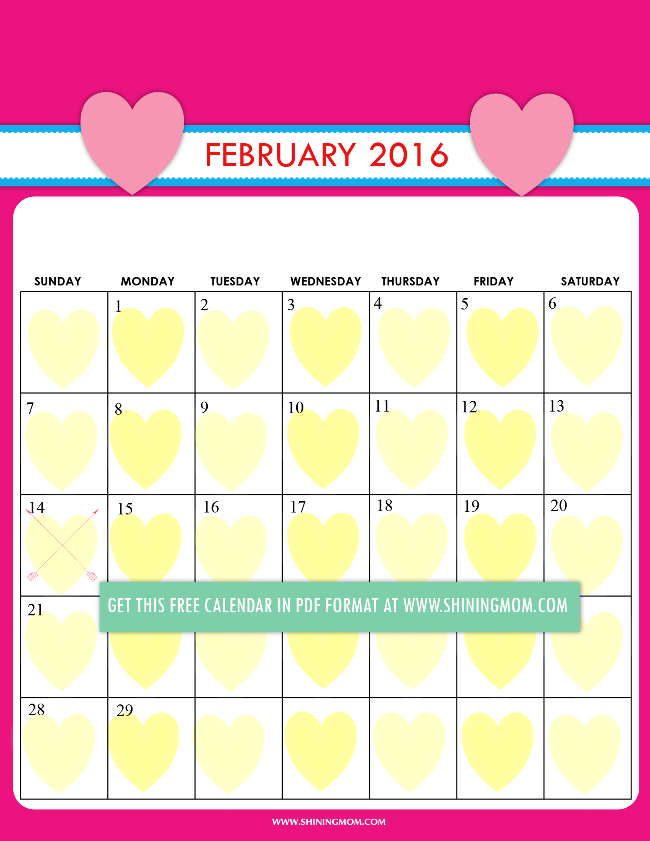 February Calendar Kids : Definitely lovely free printable february calendars