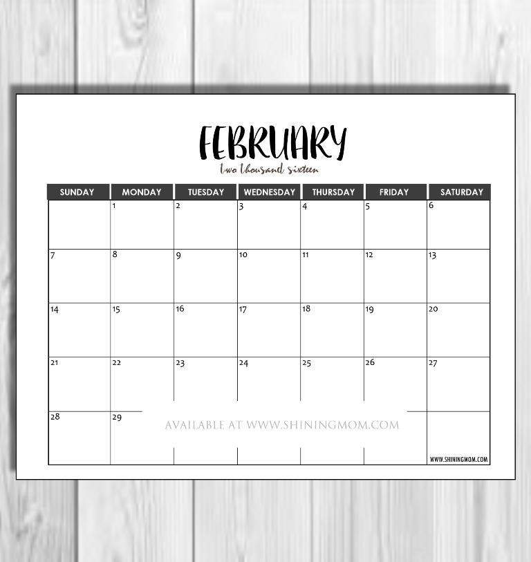 feb 2016 minimalist