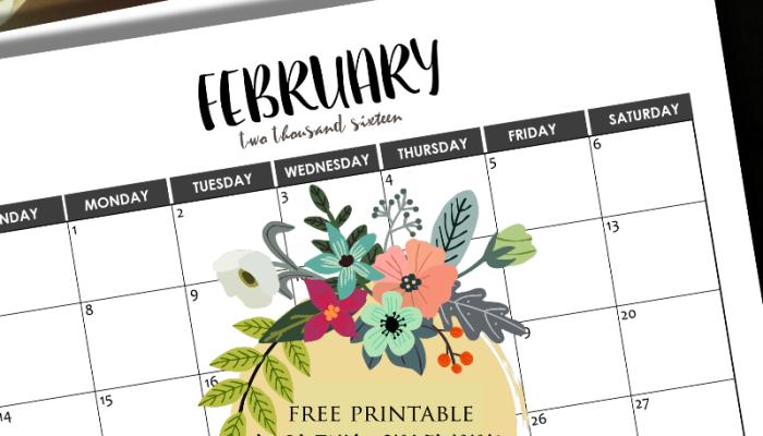 2016 Monthly Calendars {Minimalist Design!}