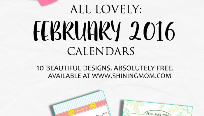 Definitely Lovely: Free Printable February 2016 Calendars