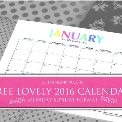 Lovely 2016 Calendars