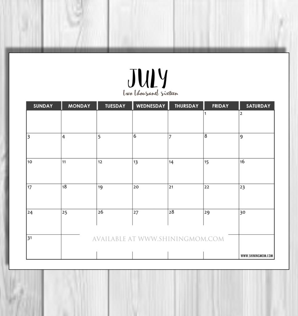 july 2016 minimalist
