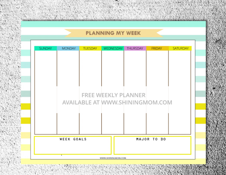 free monthly planner 1