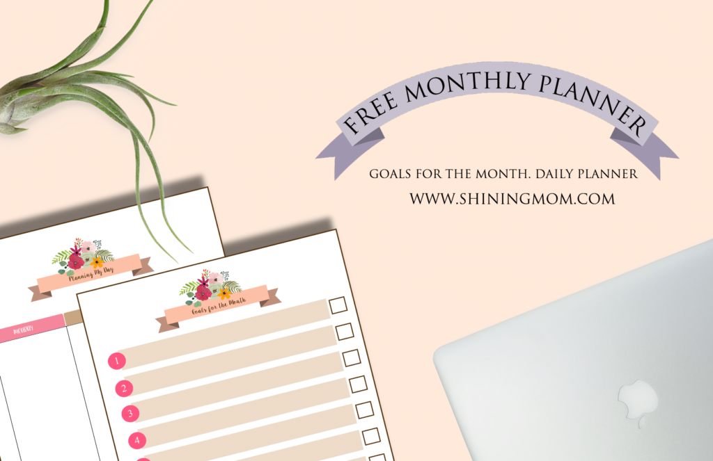 free monthly planner February 2016