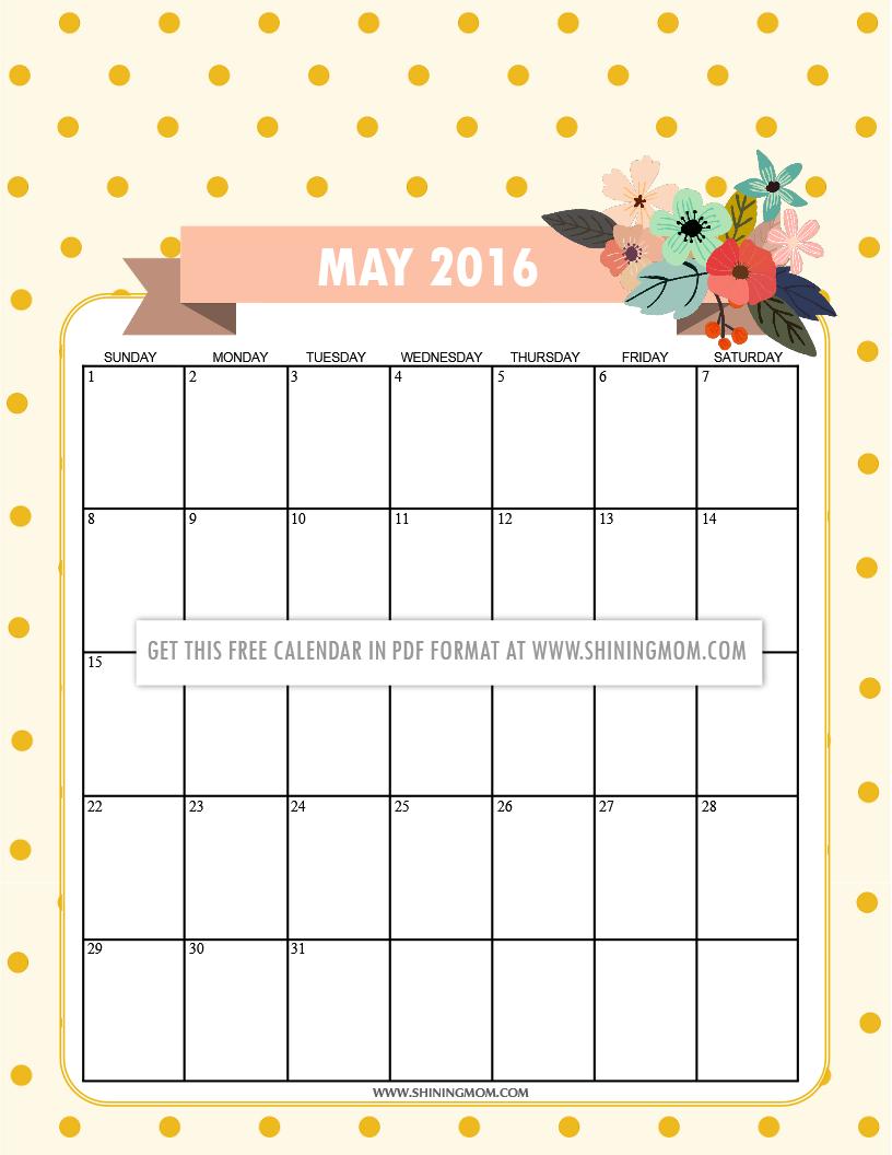 May Calendar Designs : Free printable calendars for may