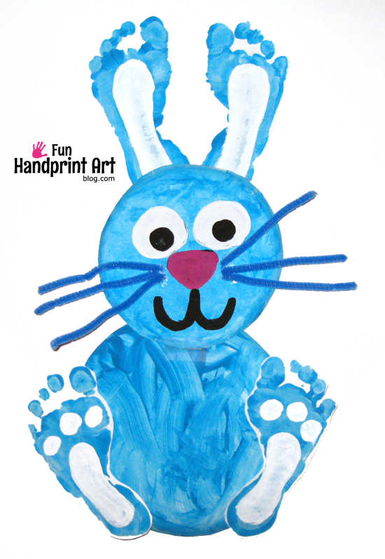Footprint Easter Craft