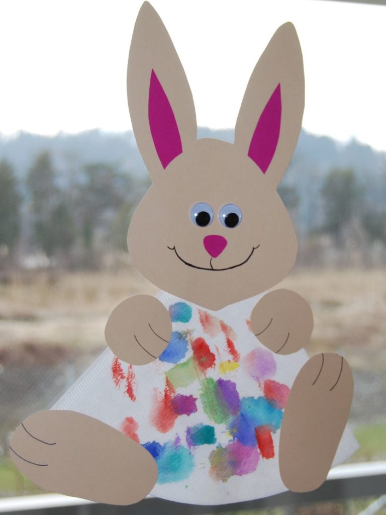 easter bunny coffee filter