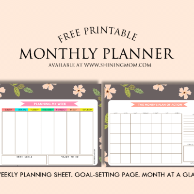 Free Monthly Planner for April