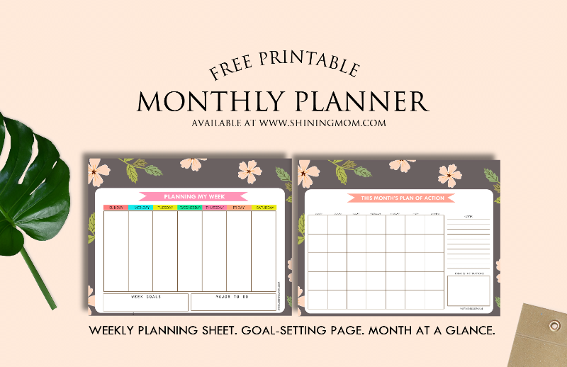 free printable monthly planner