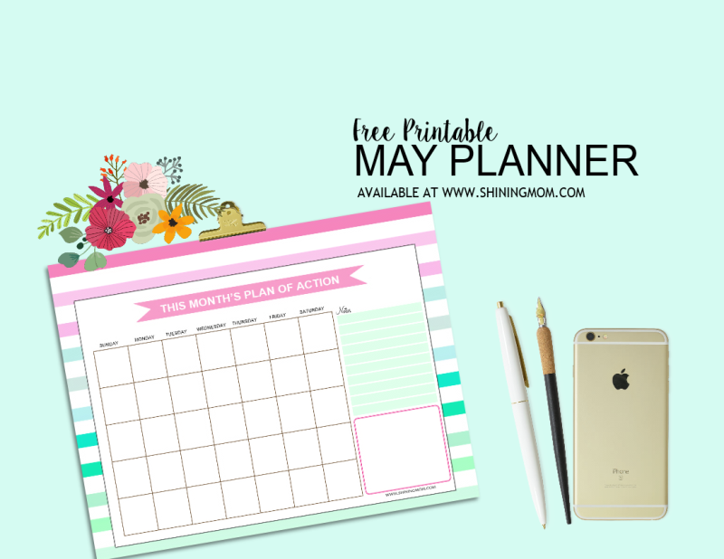 Time to plan your May with this pretty set!