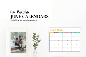 Pretty Printable Calendars for June!
