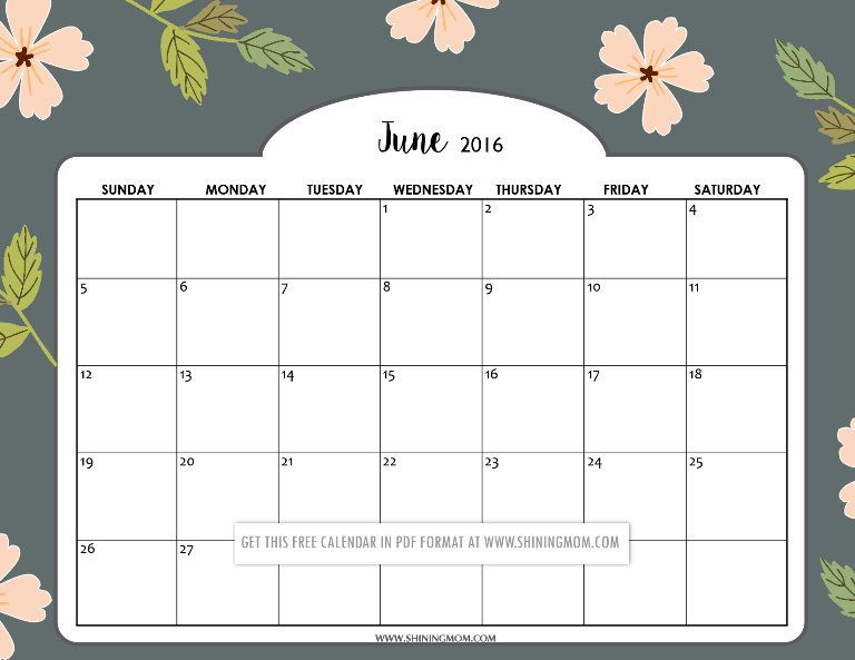 picture relating to Calendar June Printable called Wonderful Printable Calendars for June!