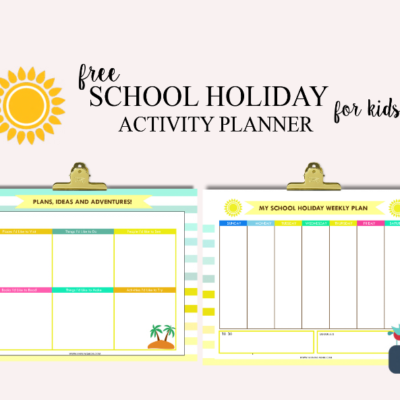 FREE School Holiday Activity Planner for Kids!