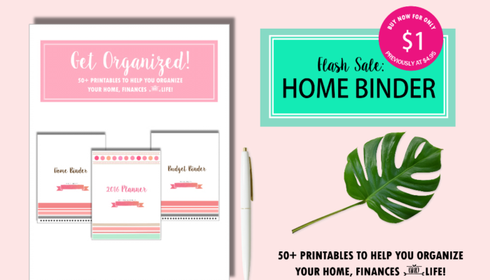 FLASH Sale: Shining Mom's Binder of Organizers at 80% Off!