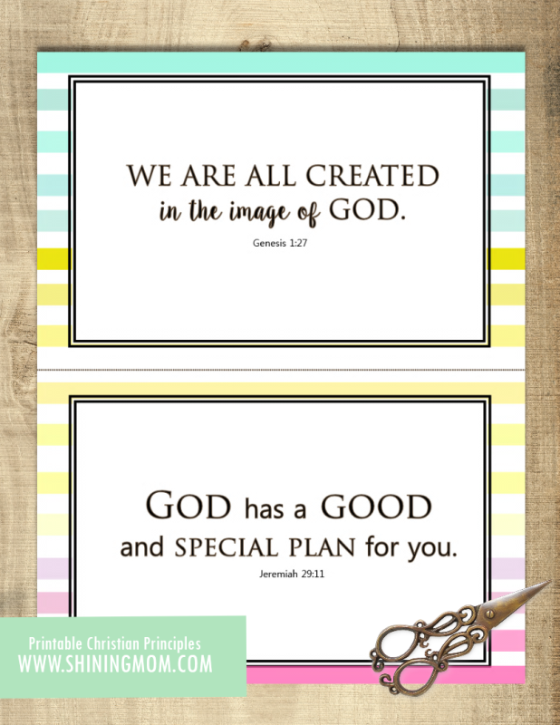 bible verses cards for kids