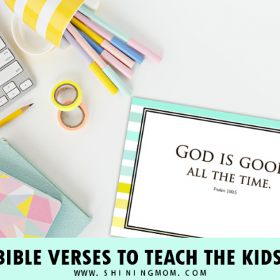 FREE Printable Cards: 8 Bible Verses for Kids!