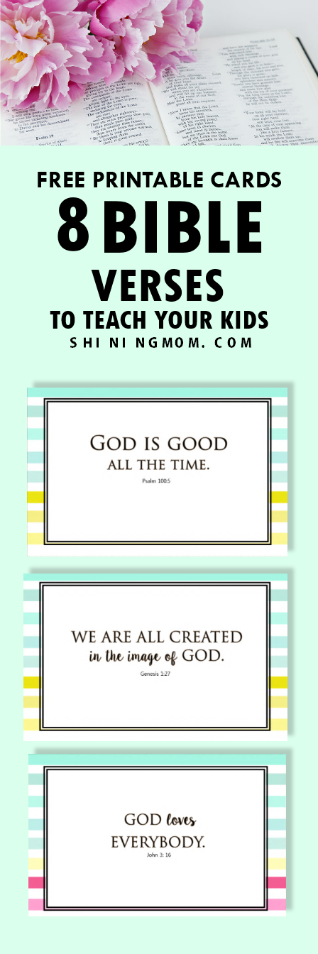 graphic about Free Printable Bible Verses named Totally free Printable Playing cards: 8 Bible Verses for Youngsters!