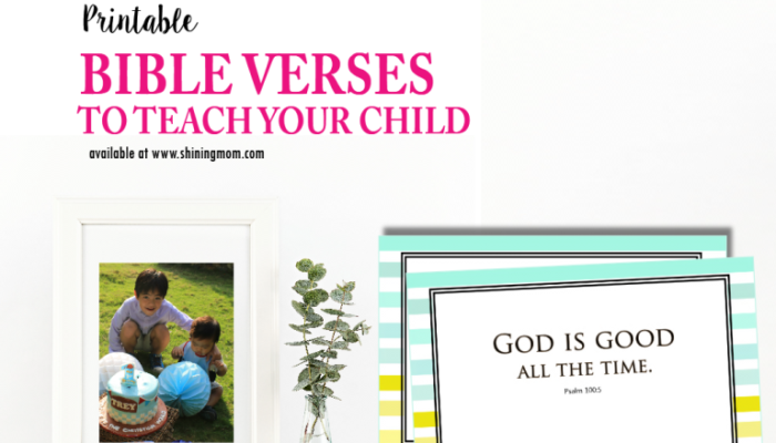 Printable Cards: 8 Bible Verses to Teach Your Kids!