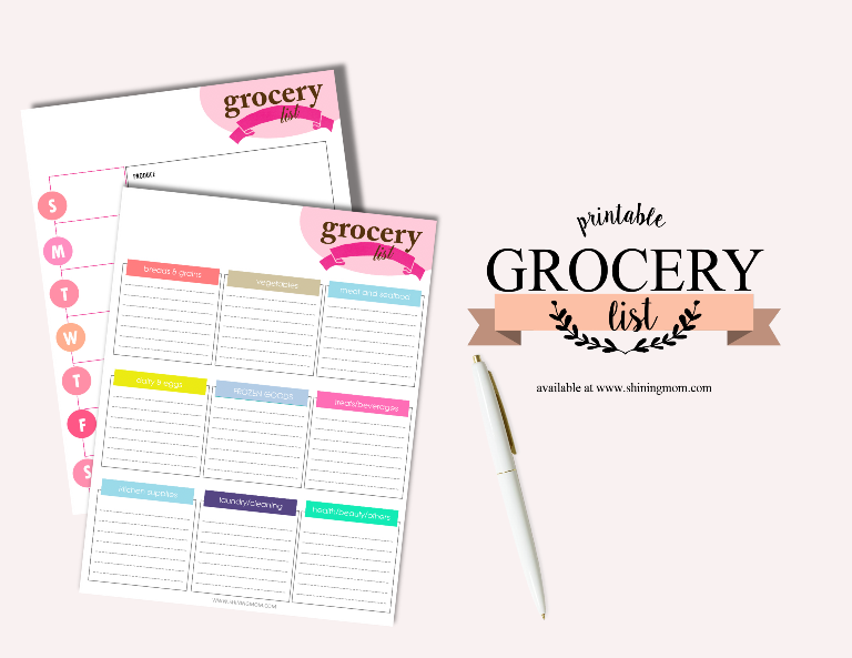 printable grocery list pdf