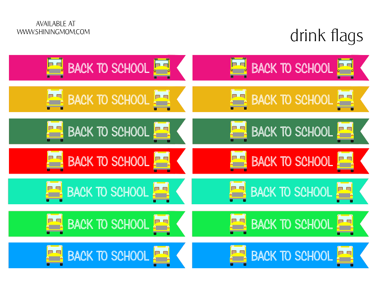 back to school drink flags