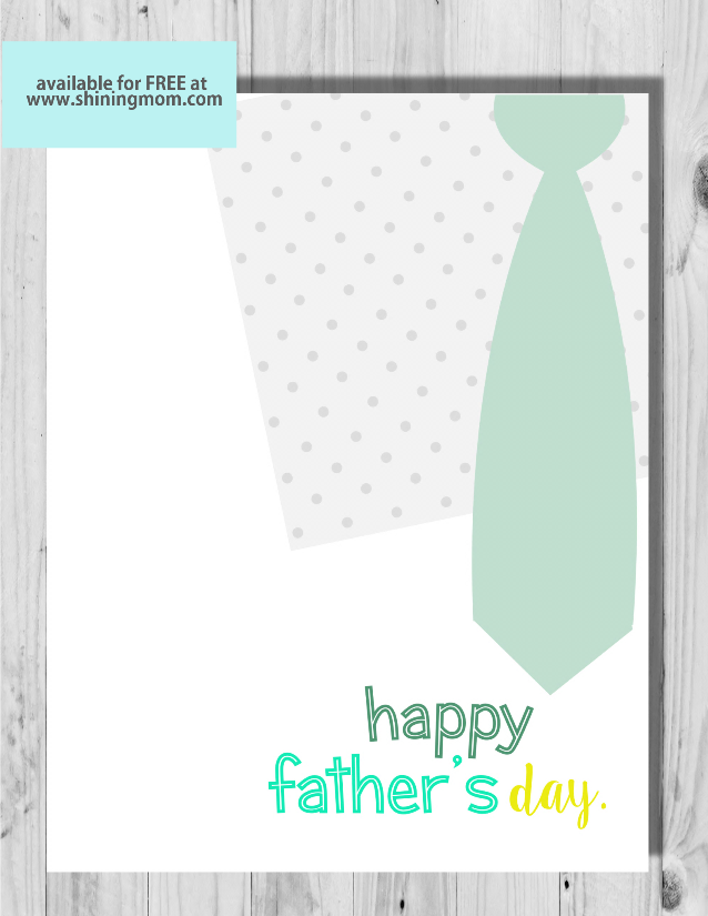 cute free printable father's day card